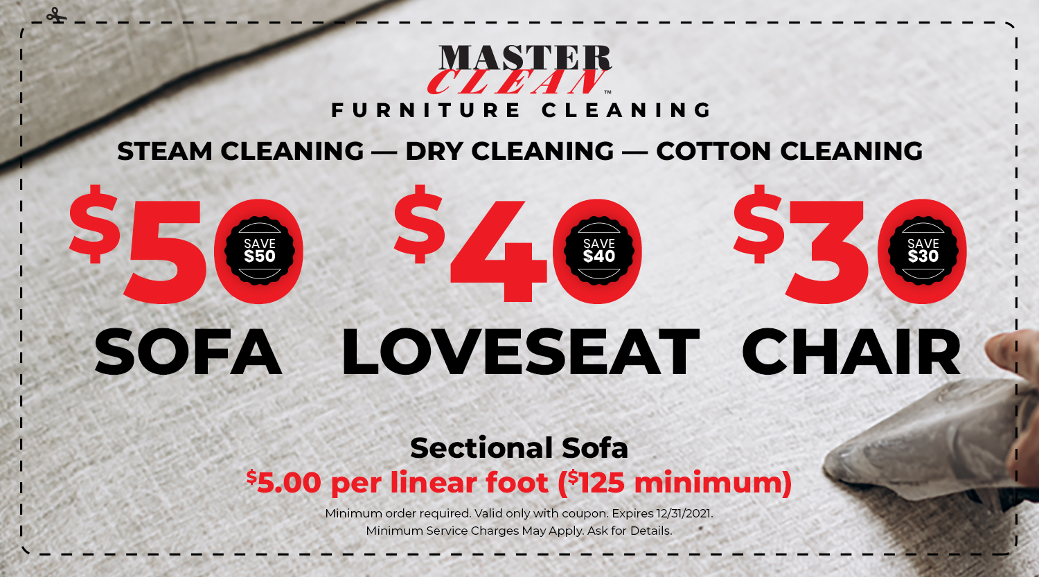 Furniture Cleaning Coupon